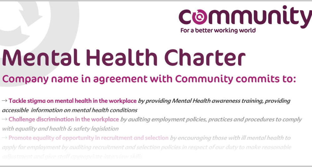 Part of Community's Mental Health Charter