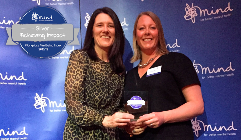 Beverley Peace and Lynda Parkinson with the award.
