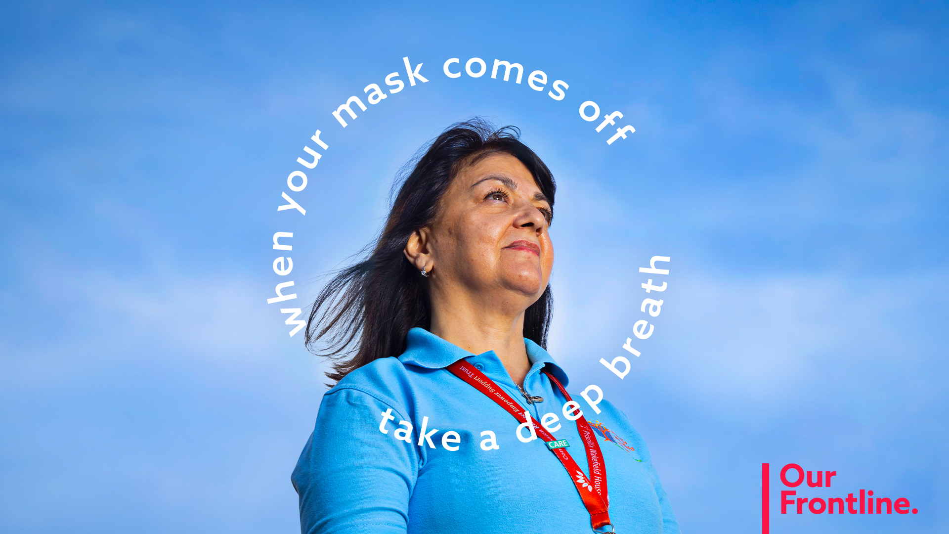 When your mask comes off, take a deep breath